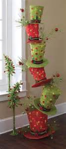 raz whimsical stack of lighted top hats trendy tree blog holiday decor inspiration wreath