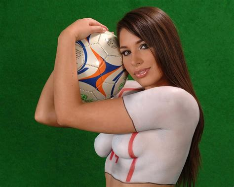 Fifa Hottest Fan Body Painting Bollywood