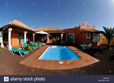 Fish-eye Shot, Bungalow Villa With A Swimming Pool