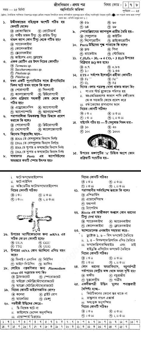 HSC Biology 1st Paper Model Question - 05