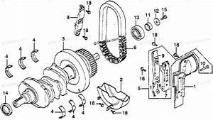 Honda Motorcycle 1978 Oem Parts Diagram For Crankshaft