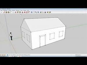 Haus Zeichnen 3d : google sketchup 5 ein einfaches haus erstellen youtube ~ Watch28wear.com Haus und Dekorationen