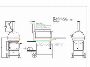 Bbq Smoker Schematic : 55 gallon drum reverse flow cooker design what do you ~ A.2002-acura-tl-radio.info Haus und Dekorationen