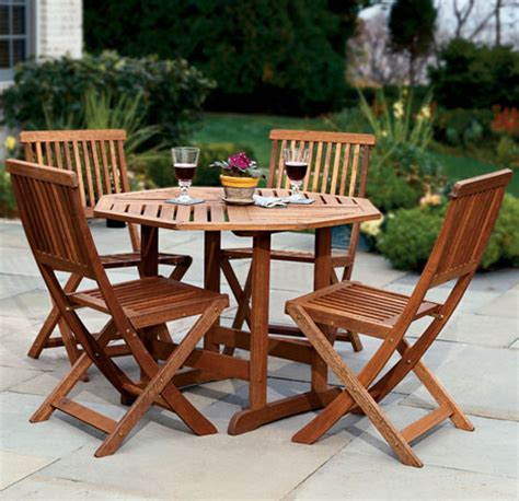 patio table and fold away chairs stores seating for four