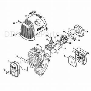 Stihl Fs 87 Brushcutter  Fs87  Parts Diagram  Muffler  Air