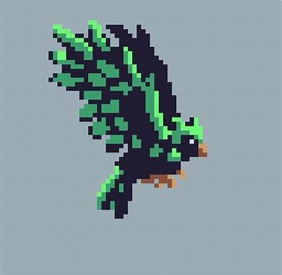 Pixel Udemy Bird Animation Creature Pixelart Gifs