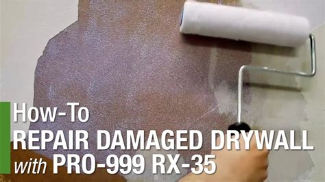 repairing damaged drywall  pro  rx  youtube