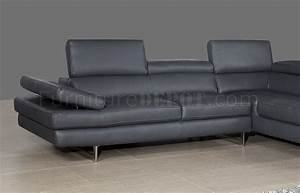 a761 slate grey leather sectional sofa by jm With slate grey sectional sofa