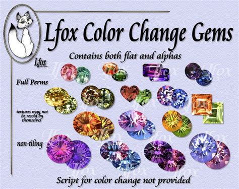 color changing gemstones second marketplace lfox color change gems