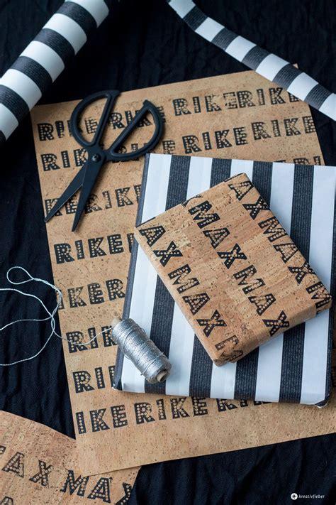 Geschenke Verpacken Mit Kork  Diy Weihnachten Und