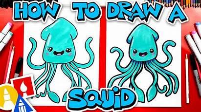 Draw Squid Cartoon Funny Hub
