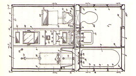 Technische Zeichnung Badezimmer