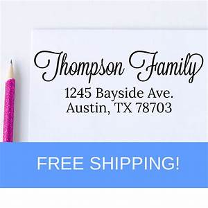 self inking return address stamp custom address stamp self With free return address stamp
