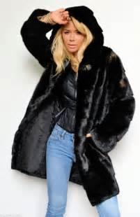 Mink Fur Coat with Hood