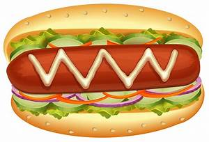 Hot Dog with Salad PNG Clipart - Best WEB Clipart