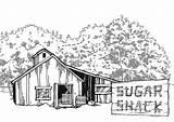 Shack Sugar Maple Worksheet Colouring Sheet sketch template