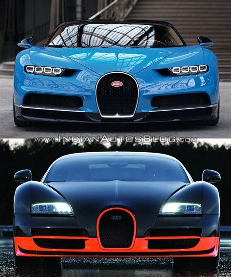 Vs Bugatti by Bugatti Veyron Vs Bugatti Chiron In Images