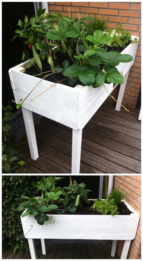 pallet herbs table planter pallet ideas  pallets