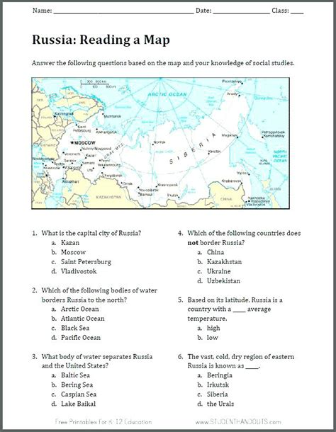 map skills worksheets grade sixth social studies pdf 6