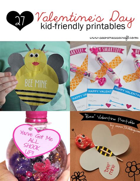 roundup  kid friendly valentines day printables