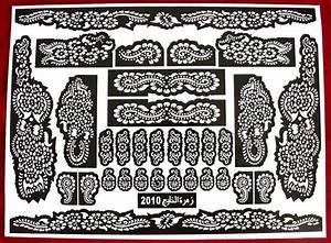 Henna Muster Schablone : jeminitische henna tattoos henna art schablone blatt nr 20 ~ Frokenaadalensverden.com Haus und Dekorationen