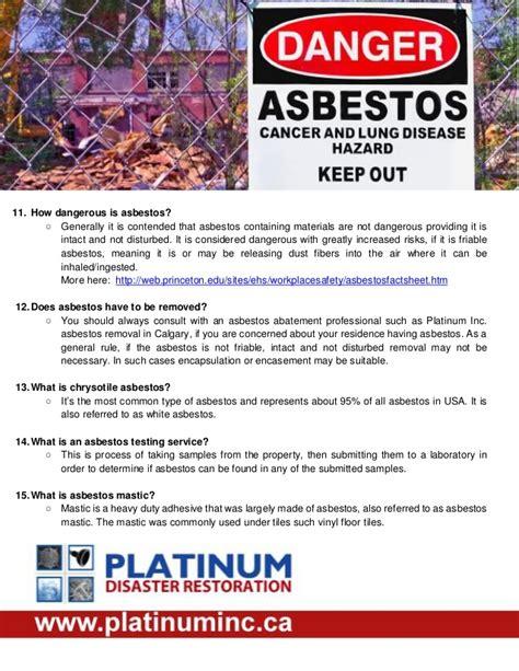 asbestos  dangerous  asbestos  information center