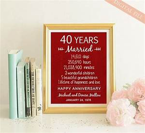 25 unique 40th anniversary gifts ideas on pinterest With gift for 40 wedding anniversary