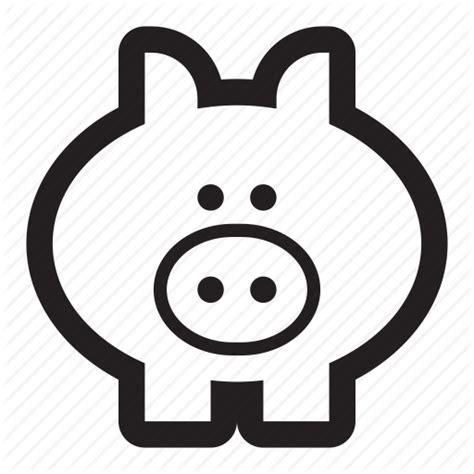 Animal, bank, farm, oink, pig, piggy icon