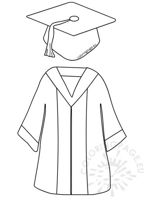 preschool graduation cap  gown coloring page