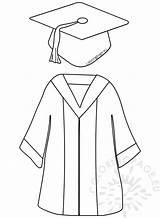 Graduation Gown Cap Coloring Preschool Drawing Uniform Template Hat Printable Robe Finissant Pre Coloringpage Eu Drawings Grad Crafts Printables Sketch sketch template