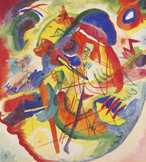 wassily kandinsky draft improvisation  red  blue