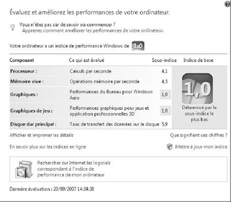 performance du bureau pour windows aero l affichage est limité sous windows vista toubib pc