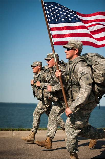Soldiers Fallen Memorial Run Flag Army Military