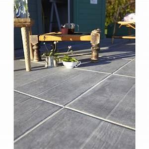 Carrelage Clipsable Exterieur : carrelage sol anthracite effet bois river x cm ~ Premium-room.com Idées de Décoration