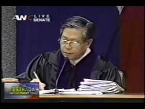 Impeachment Trial of President Joseph Estrada - YouTube