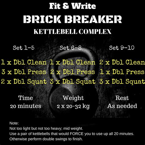 kettlebell complex breaker brick workout kettle workouts training exercises dan john write strength
