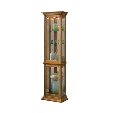 Pulaski Cambridge Display Cabinet by Pulaski Curios Display Cabinet In Estate Oak 21214