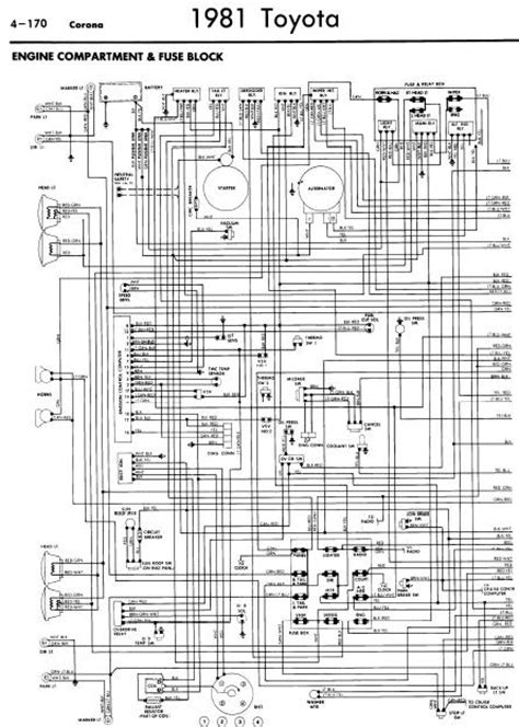 repair-manuals: Toyota Corona 1981 Wiring Diagrams