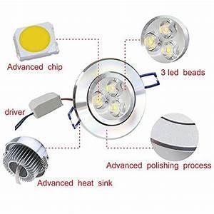 Pack of pocketman v w led ceiling light downlight