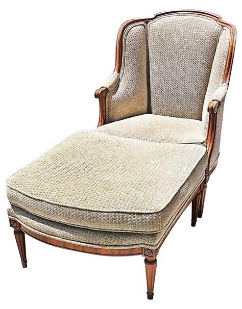 chaises louis xvi louis xvi style duchesse brisee chaise ottoman a pair