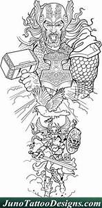 designing a sleeve tattoo template - thor valkyrie tattoo template juno tattoo designs how to