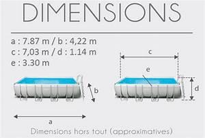 Dimension Piscine Hors Sol : piscine tubulaire intex ultra silver x x m raviday ~ Melissatoandfro.com Idées de Décoration