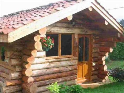 fuste chalet maison de bois rond