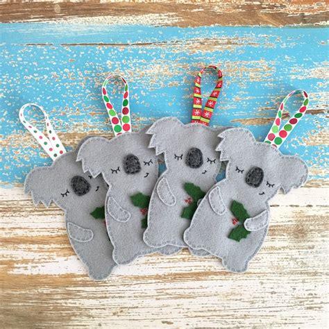 sleepy koala christmas decoration australian animal grey