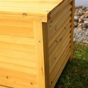 Auflagenbox Holz Gartentruhe Kissenbox Holztruhe Holzbank