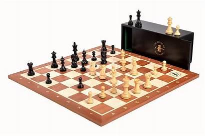 Chess Grandmaster Board Staunton Boxwood Box Library