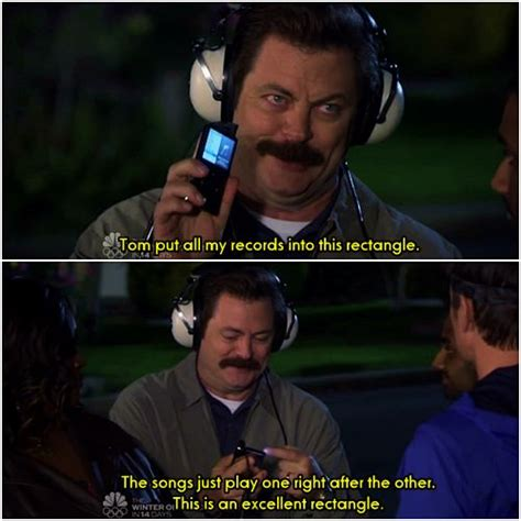 """""""this Is An Excellent Rectangle"""", Ron Swanson"""
