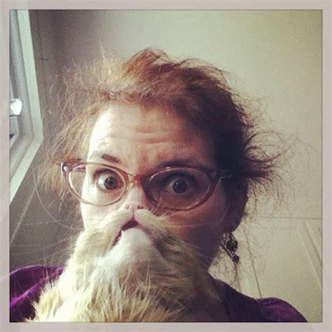 cat beards  photo meme  people place  cat  front
