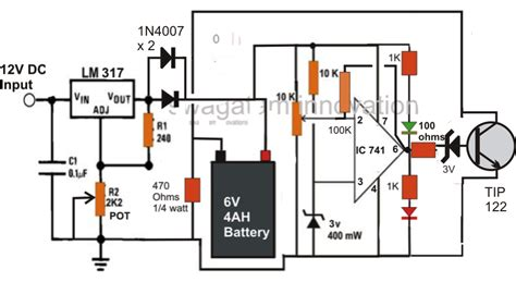 Make Automatic Battery Charger Circuit Without