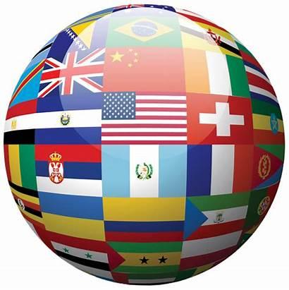 International Globe Flags Bendera Missions Gambar Country